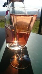 Pink sparking wine, back in France...